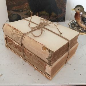 Rustic Vintage Book Decor Unbound Tied Twine